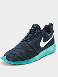 nike roshe run mens trainers navyblue in blue for