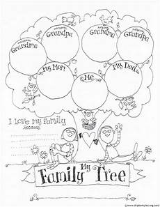 free printable family tree coloring page family tree for kids tree coloring page blank