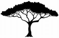 afrikanischer baum silhouette tropical tree silhouette stock vector