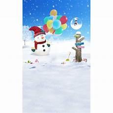 5x7ft Vinyl Blue Snowman Photography Backdrop by 5x7ft Snow Flakes Blue Sky Snowman Balloons Road Sign
