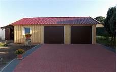 Fertiggaragen Aus Holz - doppelgarage holzgarage fertiggarage 6m x 6m mit