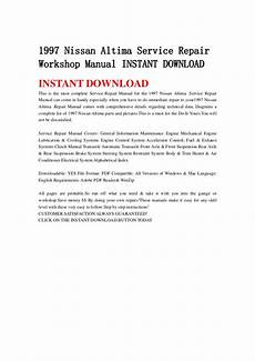 auto repair manual free download 1997 nissan altima interior lighting 1997 nissan altima service repair workshop manual instant download