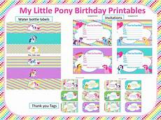 my little pony rainbow birthday printables