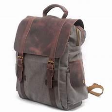 vintage canvas backpack for