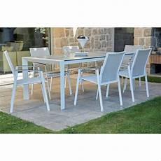 ensemble jardin aluminium ensemble de jardin en aluminium blanc blanc homemaison