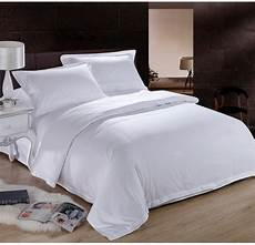 aliexpress com buy pure white hotel home textile 100 cotton bedding queen king size 4pc
