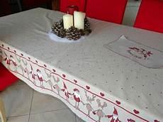 nappe de noel en tissu nappe de no 235 l la couture 224 lulue