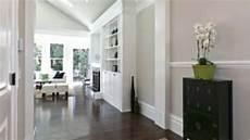 dark wood floor light grey walls white trim home