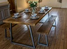 essplatz mit bank industrial style dining table and bench set ebay