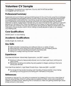 cv template volunteer experience cvtemplate experience template volunteer