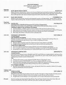 harvard business school 3 resume format free resume sles sle resume templates resume