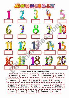numbers 1 20 esl worksheet by nichi