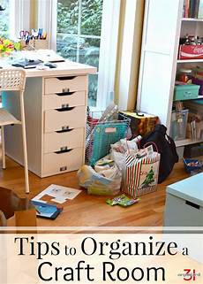 tips to organize a craft room with frugal and pretty ideas