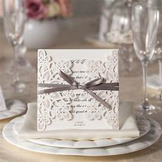 free shipping personalized laser cut white wedding invitations wishmade convite casamento event