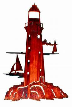 24 inch metal wall art lighthouse ship nautical coastal