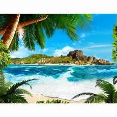 Malvorlagen Meer Und Strand Strand Meer Palmen Vlies Foto Wandtapete Dekoration