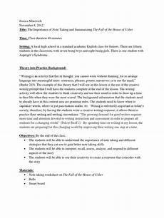 fall of the house of usher lesson plan lesson plan