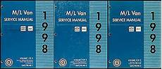 free service manuals online 1998 chevrolet astro on board diagnostic system 1998 chevy astro and gmc safari shop manual 3 volume set van repair service oem ebay