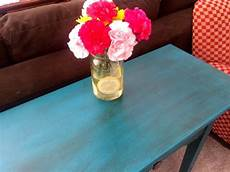 side table makeover with valspar chalk finish paint the happy home management
