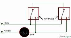 two way switch circuit diagram by 3 wire method electronic circuit diagrams circuit diagram