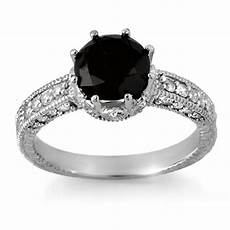 black diamond sterling silver engagement rings wedding