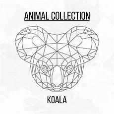 geometrischer koalakopf stock abbildung einhorn zeichnen