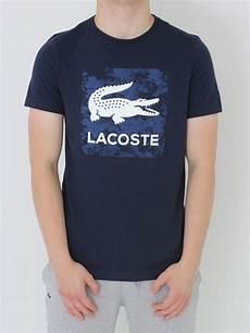 t shirt lacoste sport lacoste sport logo t shirt in navy northern threads