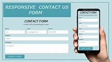 how to create the contact form using html and css responsive contact form tutorial contact