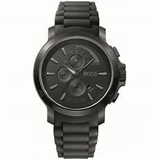 boss uhren herren schwarz s all black rubber sports chronograph