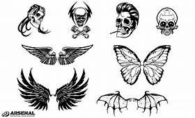 Skull & Wing Vector Pack By Go Medias Arsenal