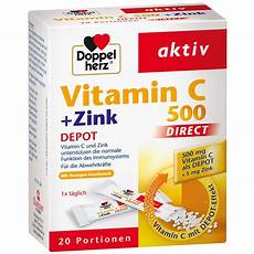 doppelherz 174 aktiv vitamin c 500 zink depot direct 20 st