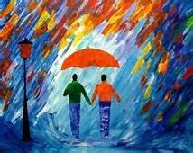 Beach Paintings Original Art And Couple On Pinterest