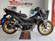 Modifikasi Sonic 2018 by Modifikasi Honda Sonic 150r Black Panther Motoblast