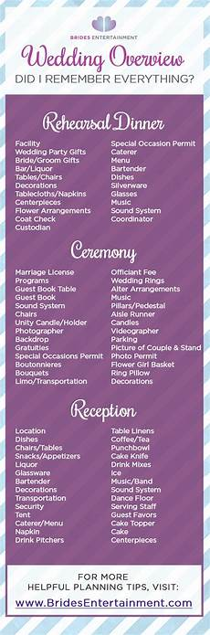 don t forget a single detail for your wedding rehearsal