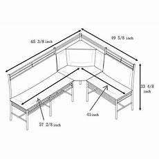 Kitchen Bench Size by 3 Pc Black Silver Metal Breakfast Nook Dining Set Corner