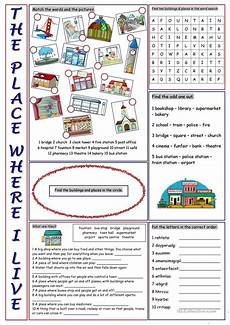 worksheets for places to live 15996 the place where i live vocabulary exercises vocabulary exercises vocabulary lessons
