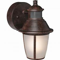 brinks led outdoor wall lantern motion security light bronze ebay