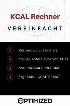 deutschlands umfangreichster kalorienrechner you optimized