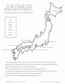 japan worksheets for kindergarten 19565 map of japan japan for japan japanese language