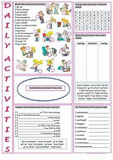 free activity worksheets 20305 daily activities worksheet free esl printable worksheets made by teachers