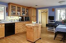 Kitchen Cabinet Color Wood Floor by Design Of The Kitchen Paint Color With Maple