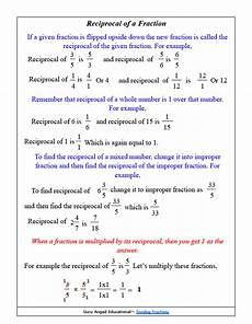 fraction reciprocal worksheets 4081 dividing fractions made easy steemit