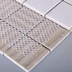 Kitchen Backsplash Tile Mesh by Glazed Porcelain Tile Deco Mesh Kitchen Back Splash White