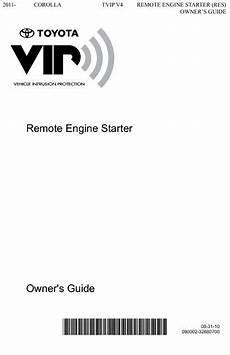car engine repair manual 2012 toyota corolla security system 2011 toyota corolla 2011 2013 corolla tvip v4 remote engine starter res owners guide pdf