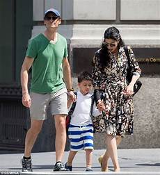 Happy Family Huma Abedin And Anthony Weiner Take Their