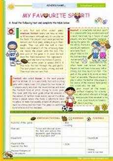 sport worksheets intermediate 15809 the 1st 45 minute lesson of 2 on the topic my favourite sport reading comprehension for