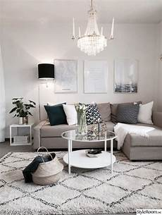 beautiful small living room in neutral colors grey beige