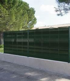 Pose Cloture Panneau Rigide Occultant Pour Panneau Grillage Vert Haut 1 65 M Larg
