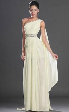 a line one shoulder long ivory chiffon bridesmaid dresses