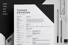 resume cv tanner on behance
